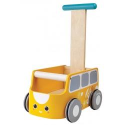 Andador furgoneta amarillo de madera