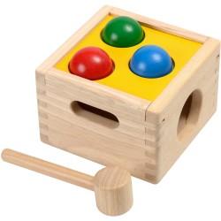 """Caja de madera """"golpea y cae"""""""