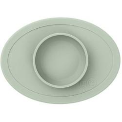 Vajilla infantil de silicona Tiny Bowl verde salvia