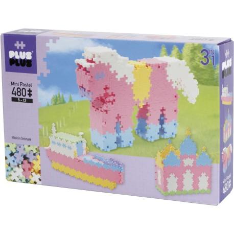"""Puzle 3D de 480 piezas pastel """"3 en 1"""""""